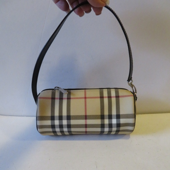 Burberry Handbags - BURBERRY LONDON CANVAS CHECK MINI BARREL HANDBAG e6ff85acbb936